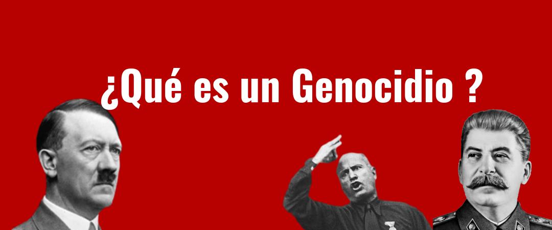 ¿Qué es un genocidio?